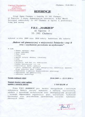 Chełmiec Sala w Świniarsku